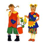 Pipi ja Lilletüdruk, Kasv 86-116 cm / Pippi & Flowergirl / Burda 3050