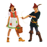 Punamütsike ja Robin Hooditar, Kasv 128-158 cm / Mis Robin Hood & Resi / Burda 2392