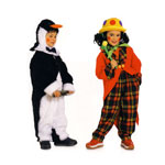 Kloun ja Pingviin, Kasv 98-128 cm / Clown & Penguin / Burda 2414
