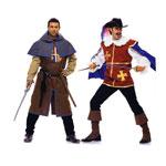 Musketär, Suurustele (Eur Sizes) 48-60 / Musketeer & Page / Burda 7976