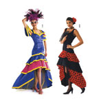 Samba & Flamenco, Suurustele (Eur Sizes) 36-48 / Burda 2486