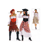 Piraaditibi & Piraadileedi, Suurustele (Eur Sizes) 36-48 / Pirate Lady / Burda 2422