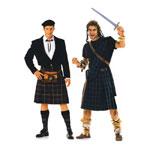 Šoti rõivastus Suurustele (EUR) 46-58 / Highlander/ Burda 2515
