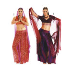 Kõhutants, Lõiked suurustele (Eur Sizes) 38-48 / Belly Dance / Burda 2442
