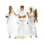 Kreeka tüdruk ja Ingel, Lõiked suurustele (Eur Sizes) 40-56 / Greek Girl & Angel / Burda 2444