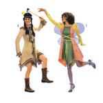 Indiaanitüdruk ja Haldjas, Lõiked suurustele (Eur Sizes) 36-48 / Indian Girl & fairy / Burda 2432