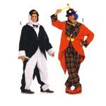 Pingviin ja Kloun, Lõiked suurustele (Eur Sizes) Naised: 36(S)-50(XL) ja mehed Nr. 44(S)-56(XL) / Penquin & Clown / Burda 2415
