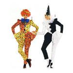 Arlekiin ja Kloun, Lõiked suurustele (Eur Sizes) Naised: 34-46 / Harlequin & Clown / Burda 2402