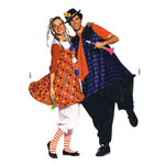 Klounid, Lõiked suurustele (Eur Sizes) Naised: 36(S)-54(XXL) ja mehed 44(S)-60(XXL)  / Clowns / Burda 2399