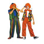 Klounid, Lõiked suurustele (Eur Sizes) Naised: 38(M)-48(XL) ja mehed 44(S)-54(XL)  / Clowns / Burda 3841