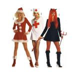 Kuradiplika, Õde ja Jõulutibi, Lõiked suurustele (Eur Sizes) Nr. 34-44  / Miss Claus & Devil Lady / Burda 2464