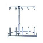 5 koonuspooli kasutamist võimaldav niidistatiiv õmblusmasinatele / Spool Stand for Janome 7700/12000