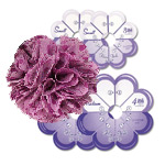 Tupsroseti mallid / Flower Frill Templates, Small & Medium, Clover (Japan) 8460