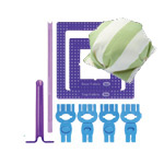 Puff Quilting Clips Small, Clover (Japan) 8400