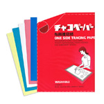 Washable Tracing Paper, 5 sheets (blue, yellow, red, green, white)