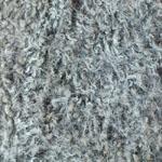 Halli-valge räksiline kergelt krussis karvadega kunstkarusnahk Nr.6A