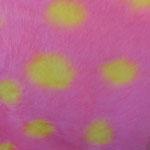 Roosa kollaste täppidega kunstkarusnahk Nr.9
