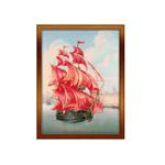 Tikkimiskomplekt PT-0017 punaste purjedega laev firmalt Riolis