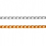 Decorative metal chain (aluminum) 9 x 5,2 x 1,6 mm
