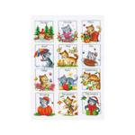 Tikkimiskomplekt kalendrikuud kiisudega / Vervaco (Belgia)  PN-0011914