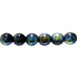 Traditional Czech glass round beads, Jablonex, 12mm