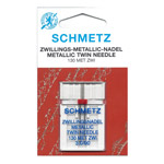 Twin Metallic thread Needle for Home Sewing Machines, Schmetz (Germany)