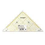 Ruutmärgistusega kolmnurk-joonlaud 15cm / Triangle Plastic Clear View Ruler / Prym 611 314