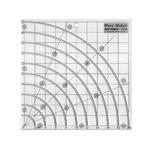 Šabloon-joonlaud / Clear View Wavy Maker Ruler / 20cm × 20cm Duroedge (Taiwan) KT-8585