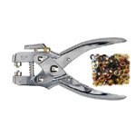 2-in-1 Eyelet Plier & Eyelets (about 100ps ø4,8mm eyelets included) / SewMate (Taiwan) NS-T0013