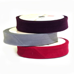 Samet diagonaalkant / Velvet Folded Bias Binding / 30mm