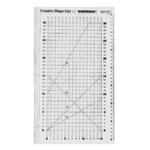 Šabloon-joonlaud / Clear View Creative Shape Cut Ruler / 38cm × 23cm Duroedge (Taiwan) KT-0915C