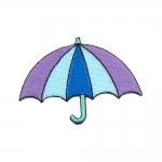 Vihmavari/Umbrella tikitud triigitav piltaplikatsioon 9 x 6,5 cm