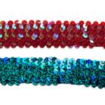 Stretch Sequin Trim Lace 7-Linie AA113