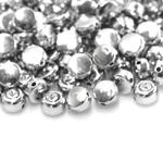 Ümarad lapikud, lameda põhjaga, kristalliga plasthelmed 9x6mm