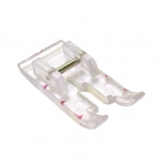 Clear View straigh stitch Foot, for sewing machines with snap-on fixing