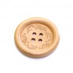 SB79 Lakitud puitnööbid tagasihoidliku mustriga läbimõõduga 30mm/48L