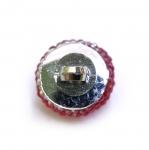 Ümar kristallilaadne akrüülnööp, metallist jalaga 14mm, 22L