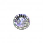 Ümar kristallilaadne akrüülnööp 16mm, 26L