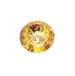 Ümar kristallilaadne akrüülnööp 21mm, 32L