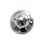 Ümar kristallilaadne akrüülnööp 10mm, 16L