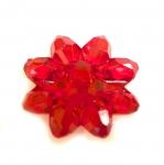 Lillekujuline kristallilaadne akrüülnööp 21x10mm, 34L