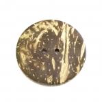 Naturaalsed kookosnööbid, värvilise glasuuriga 40mm, 60L
