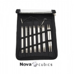 Vahetatavate otstega kandiliste metallist ringvarraste komplekt / Nova Cubics Interhangeable Deluxe Set, KnitPro 12361