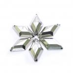 Metallilaadsed, tahulised plastikust dekoratiivkivid 25x15mm, 6tk pakis