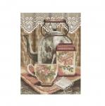Наборы для вышивания нитками на канве с фоновым рисунком AM5013 Morning Tea / НОВАЯ СЛОБОДА