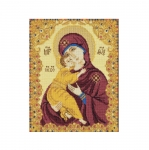 Cross Stitch Kit 1300 Our Lady of Vladimir / Riolis