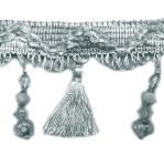 Pärliripatsite ja tuttidega dekoratiivne narmaspael laiusega 9cm A3