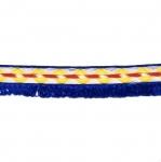 Värviline, narmastega pael Half cotton lace / 23mm