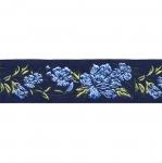 Must pael, värvilise lillemustriga 35 mm, Art.35096FC