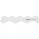 Šabloon-joonlaud, Clear View Wavy Border 17` Ruler, 10cm × 50cm Duroedge KR-1951